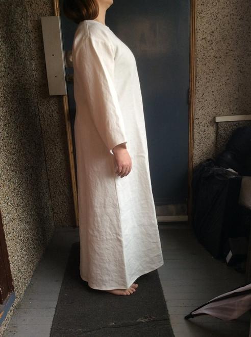 Linen Solomonic robe hand painted design