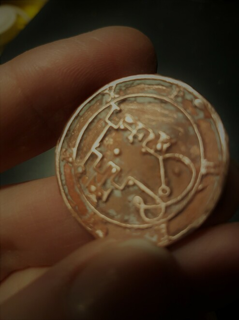 Phenex cast Daemon Demon seal pendant 1 inch