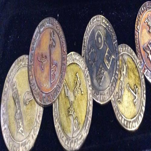 Bagenol Enochian Angel cast seal pendant 1 inch