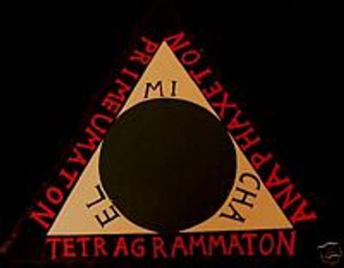 Goetia Demon EVOCATION wood triangle