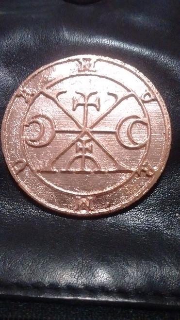 Murmur cast Daemon Demon seal pendant 1 inch