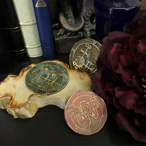 Crocell cast Daemon Demon seal pendant 1 inch