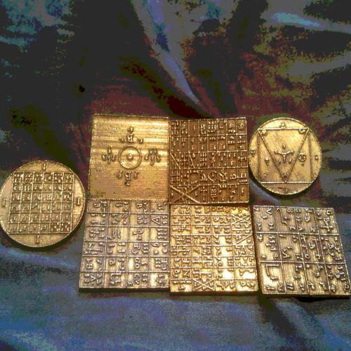 Enochian ensigns of creation lost wax cast