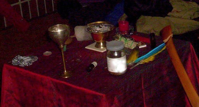 Enochian altar cloth
