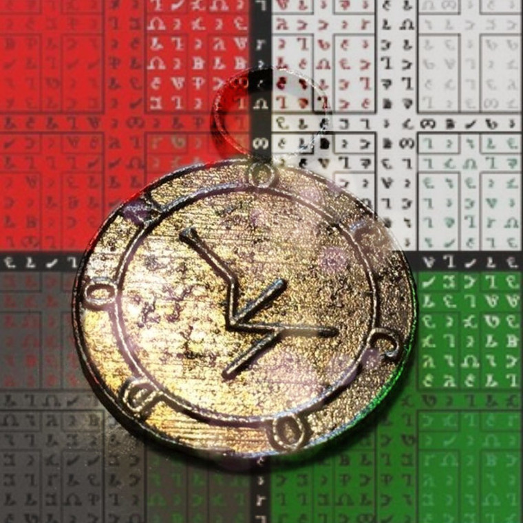 Enochian talisman pendant  to enhance courage