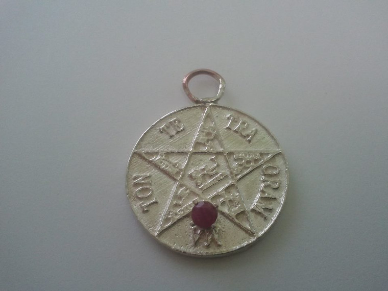 Pentagram of Solomon with ruby