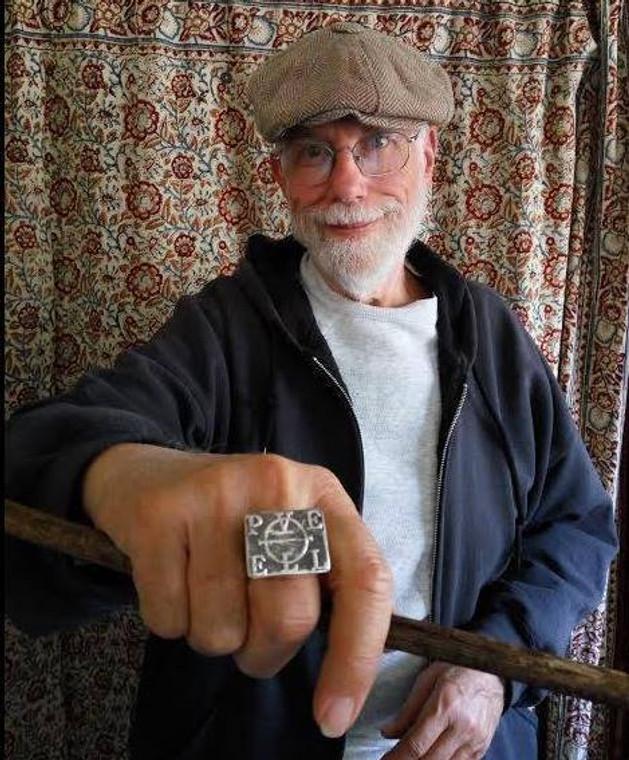 Silver Enochian magick ring