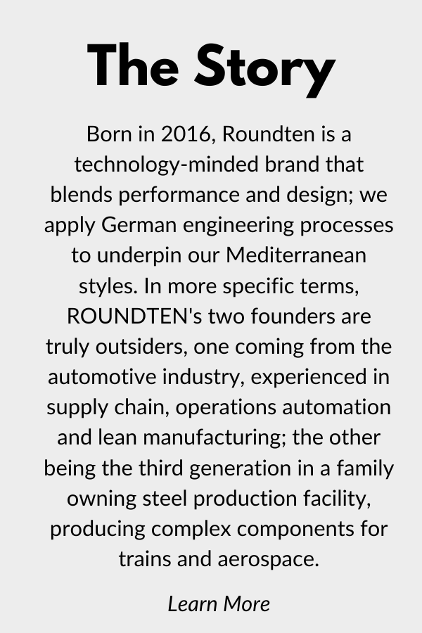 Roundten is a technology-mine brand that blends performance and design. Mediterranean styles