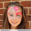 Pretty Flamingo onestroke artwork by Amy Giles