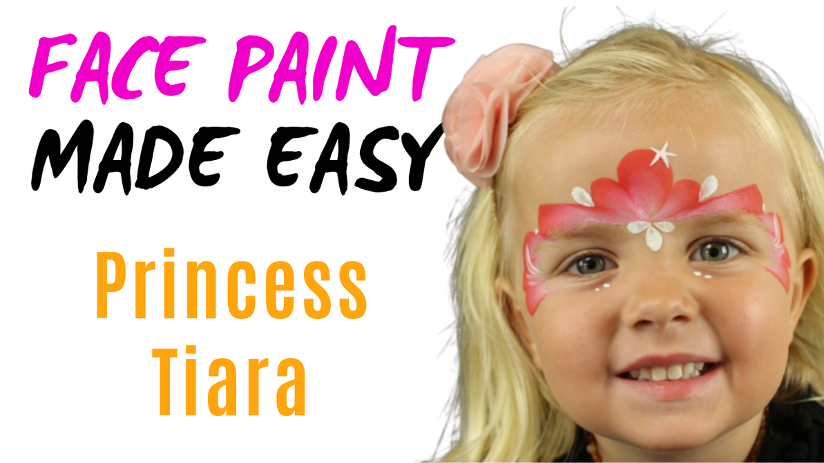How to face paint a princess tiara crown