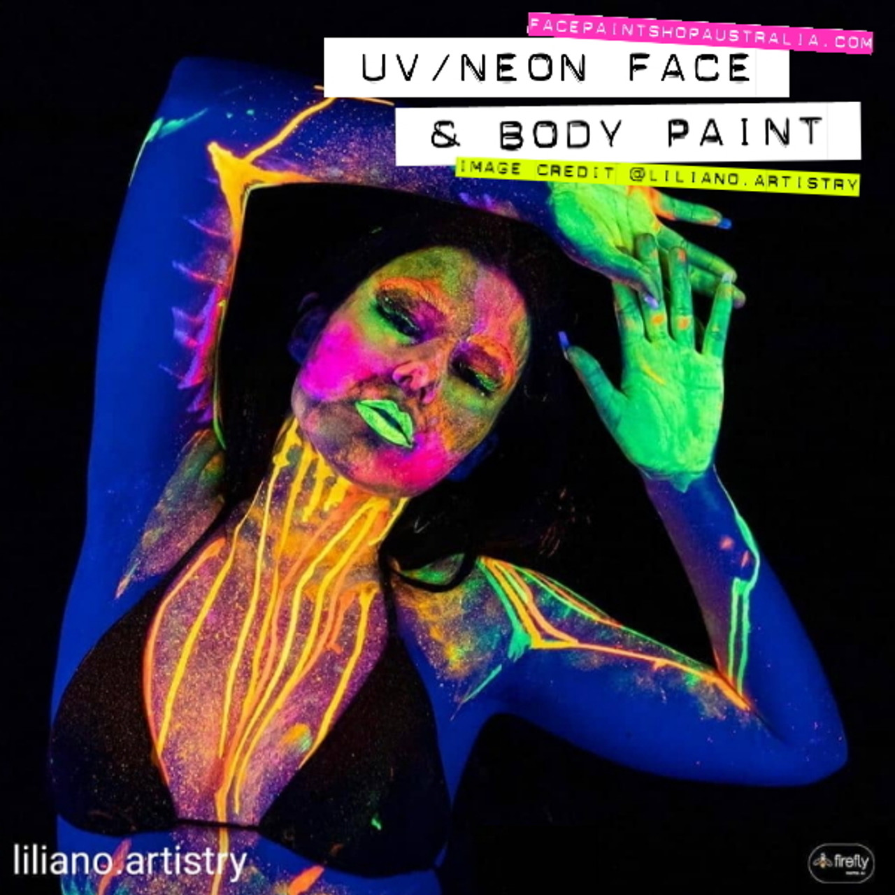 Neon UV Face Body Paint Colours