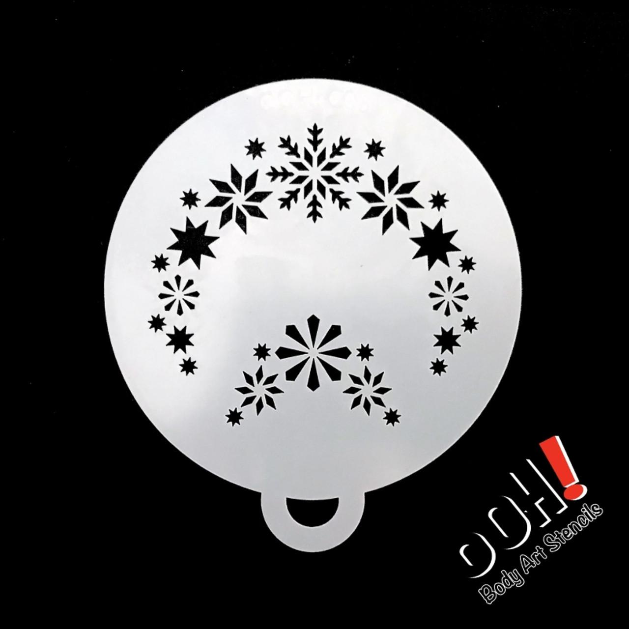 Snowflake Flips Stencil By Ooh Stencils C05 Face Paint Shop Australia