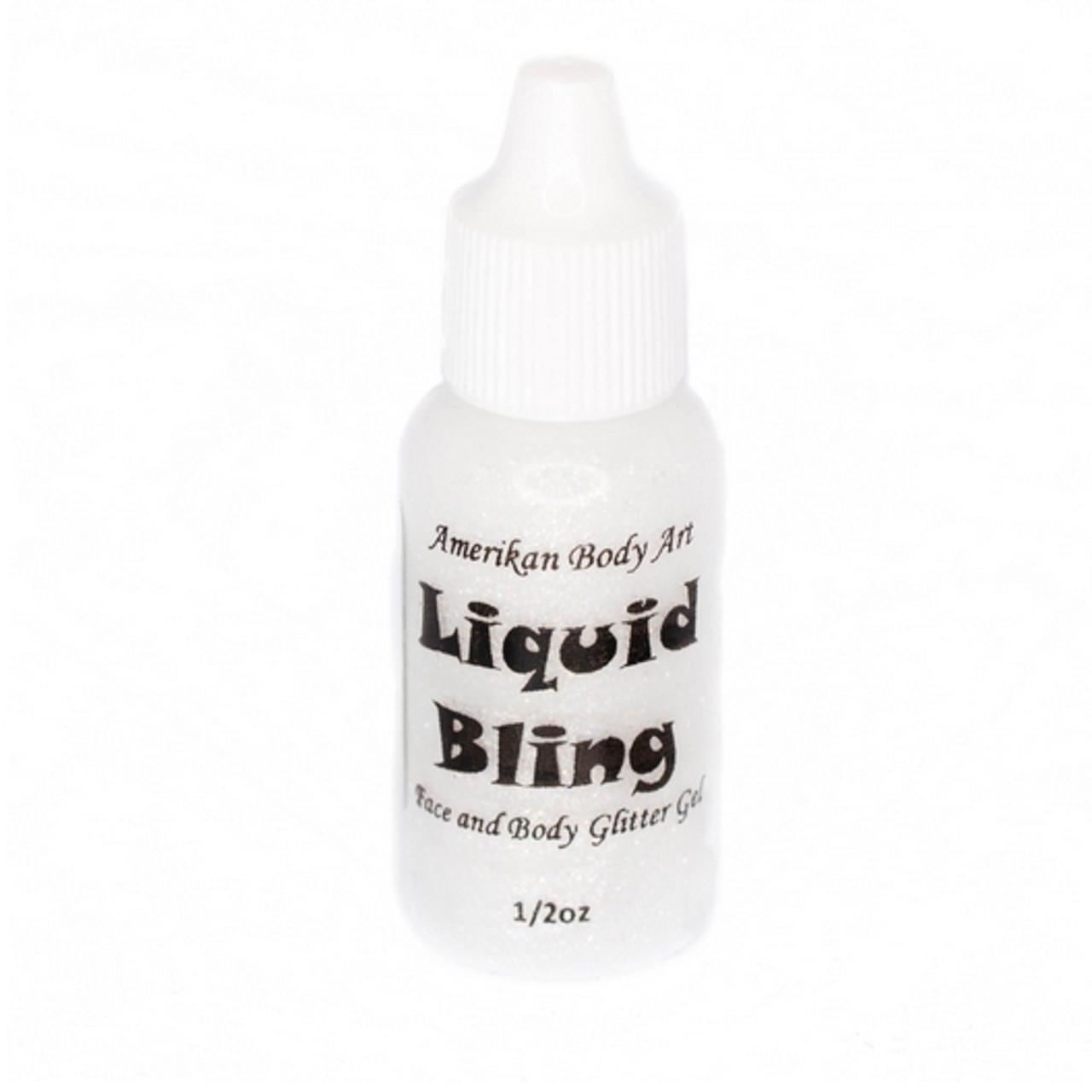 Sparkle White Liquid Bling 15ml By Amerikan Body Art Face Paint Shop Australia