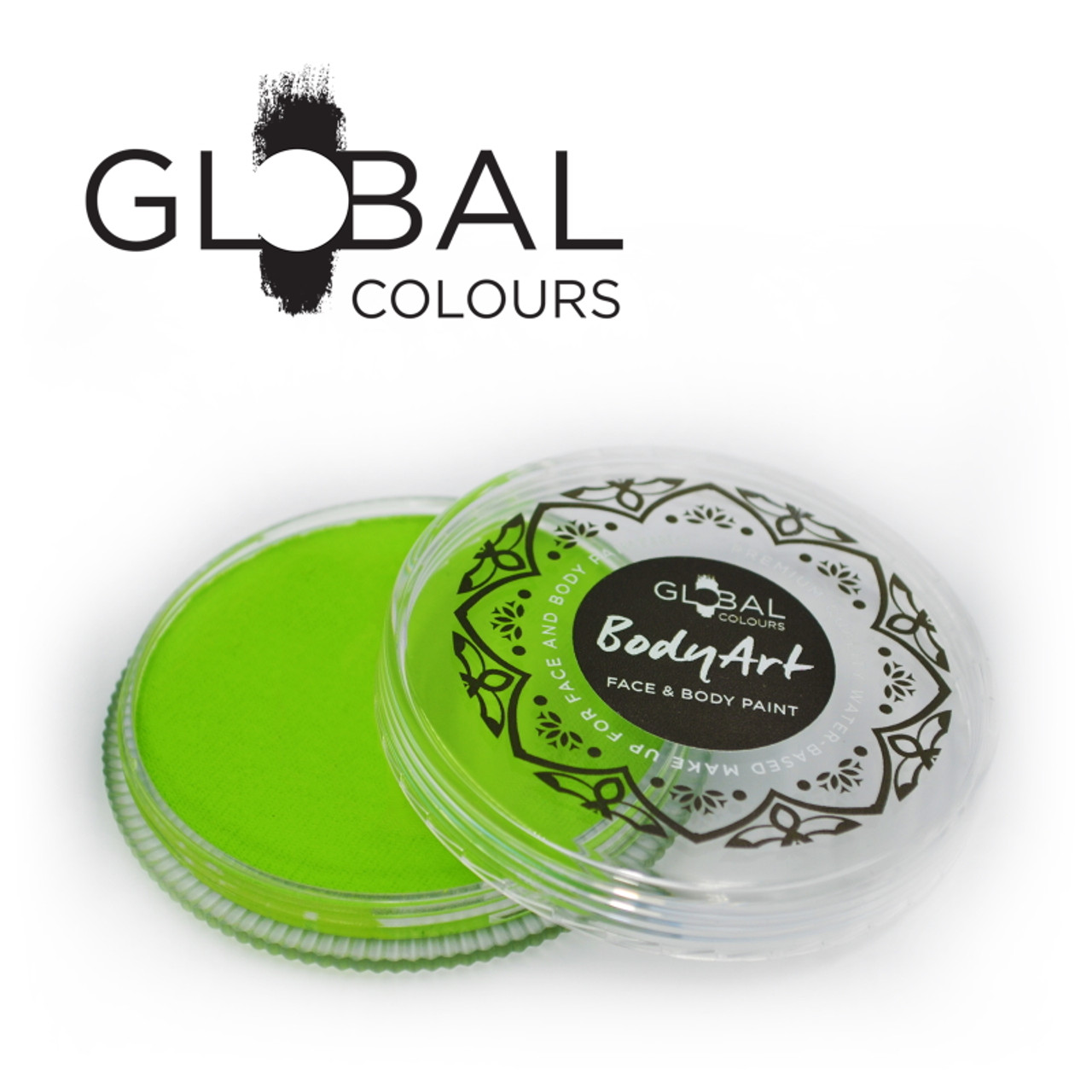 Lime Green Face And Body Paint Makeup By Global Colours 32g New Formula Face Paint Shop Australia