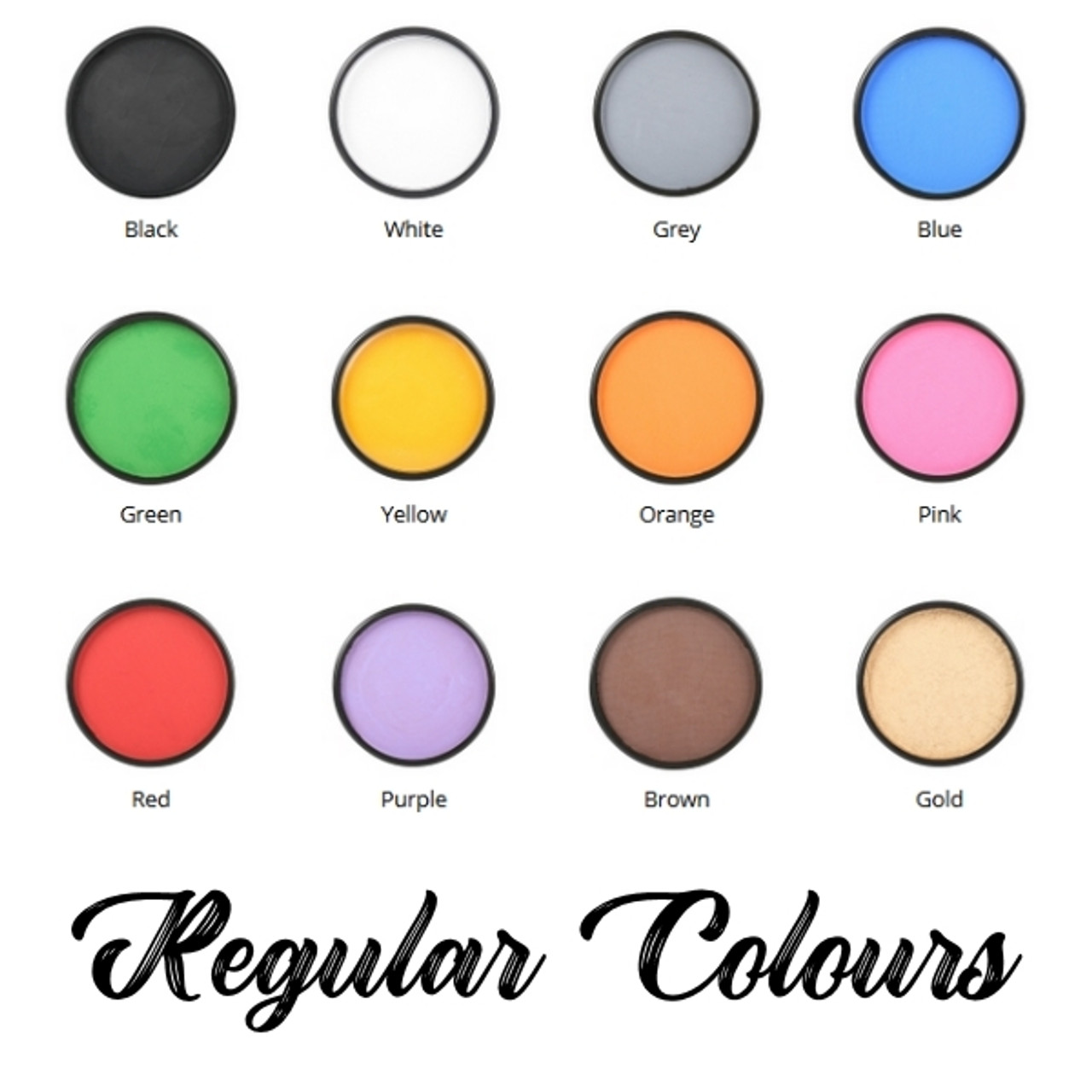Matte Regular Face Body Paint Colours