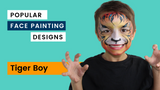 Tiger face paint video tutorial