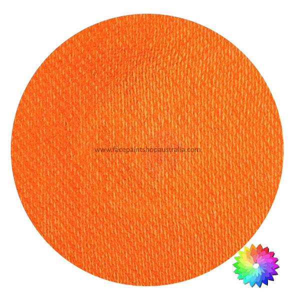 royal orange shimmer face paint