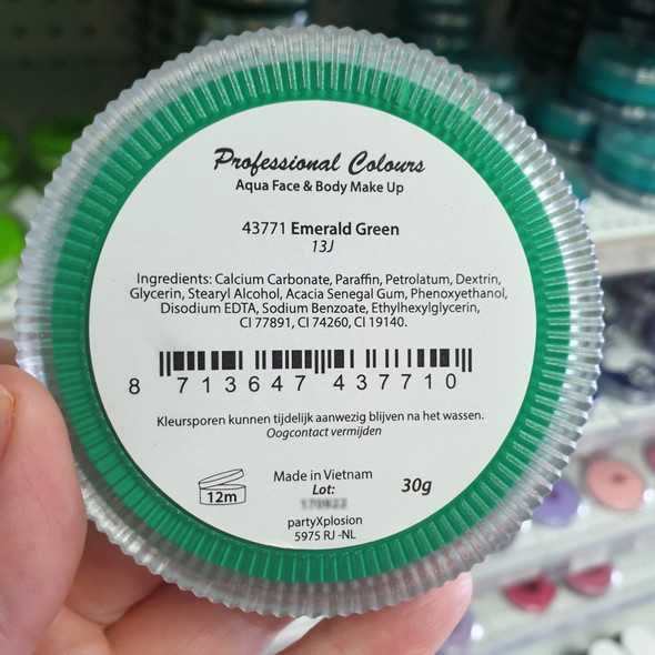 EMERALD GREEN 30g Party xPlosion Pro Face Paint 43771