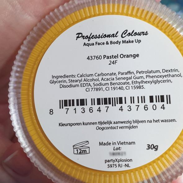 PASTEL ORANGE Party xPlosion 30g Pro Face Paint 43760