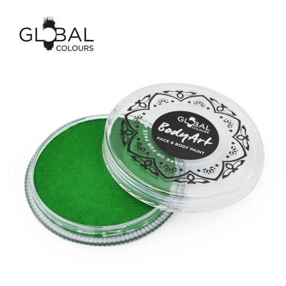 FRESH GREEN Face and Body Paint Makeup by Global Colours 32g