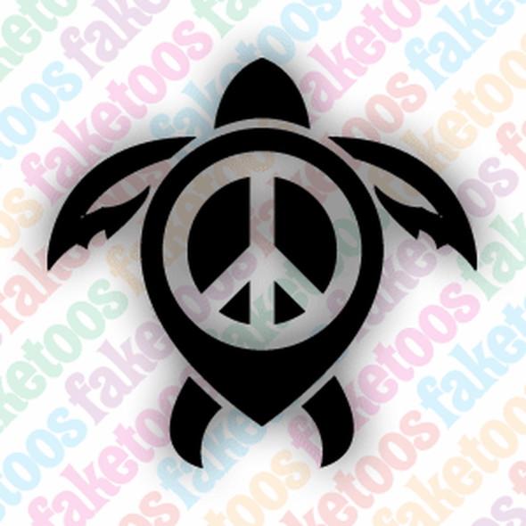 'Tribal Turtle 3' (x6) Faketoos glitter tattoo stencil