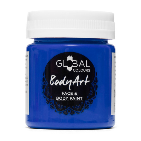 DEEP BLUE Face and Body Paint (Liquid by Global Colours