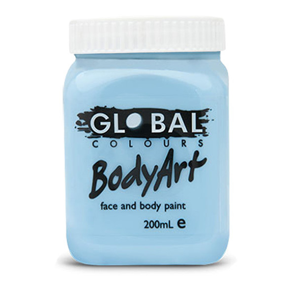 LIGHT BLUE Face and Body Paint Liquid by Global Colours