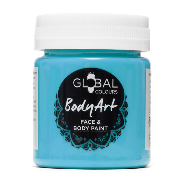 TURQUOISE Face and Body Paint Liquid by Global Colours