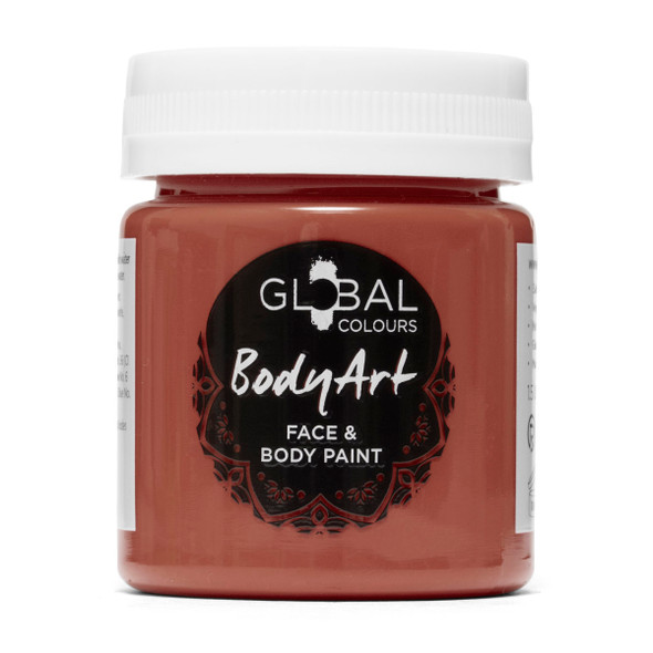 BROWN Face and Body Paint Liquid by Global Colours
