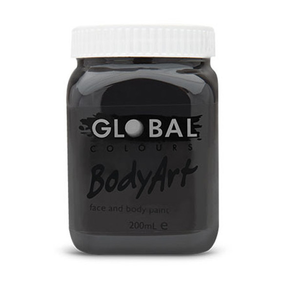 BLACK Face and Body Paint Liquid by Global Colours