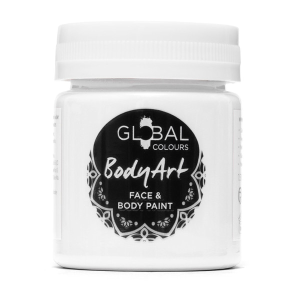 WHITE Face and Body Paint Liquid by Global Colours