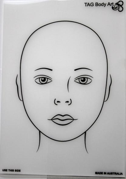 face painter's practice mat