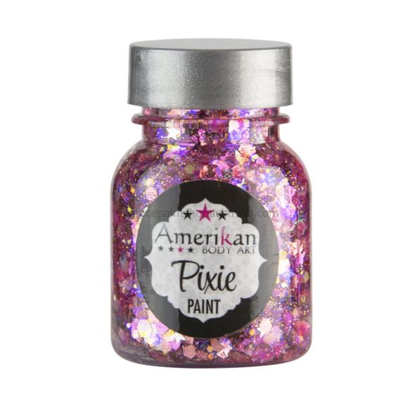 'Pretty in Pink' Pixie Paint Glitter Gel by Amerikan Body Art