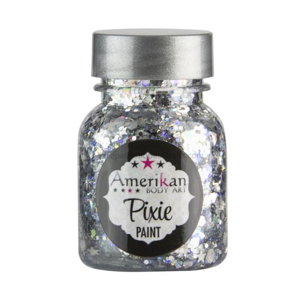 XANADU SILVER Pixie Paint Glitter Gel by Amerikan Body Art