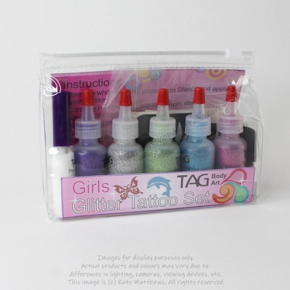Glitter Tattoo Party Kit for Girls