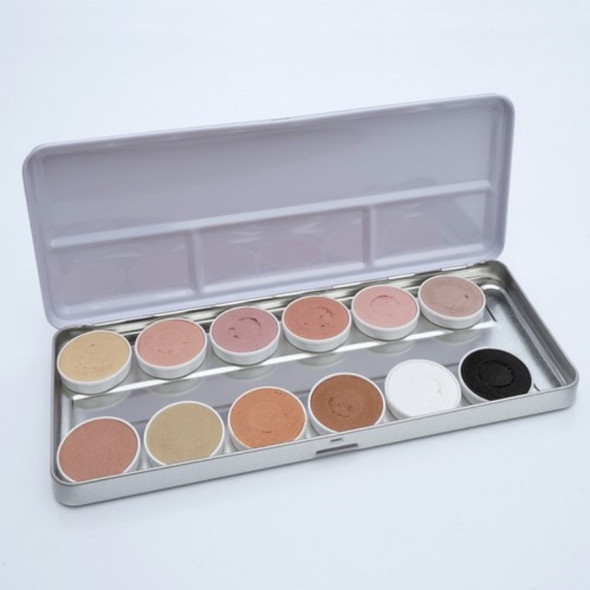 Skin Tone Face Paint Palette 12x 5g by SUPERSTAR
