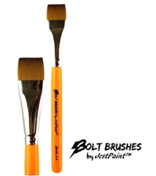 BOLT ONE STROKE 3/4 inch Face Painting Brush by Jest Paint