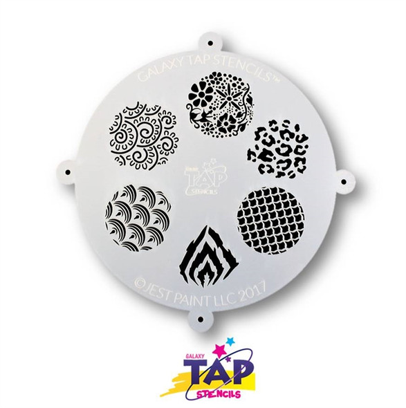 PATTERNS - Galaxy TAP Face Painting Stencil