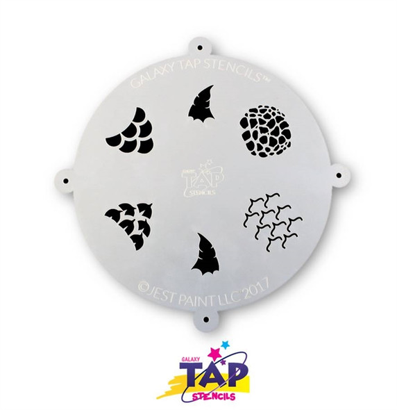 SCALES - Galaxy TAP Face Painting Stencil
