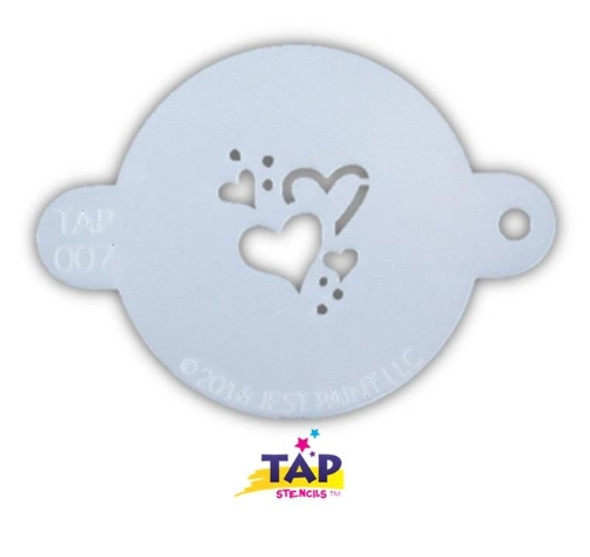 HEARTS TAP 007 Face Painting Stencil