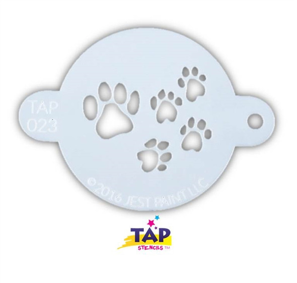 PAW PRINTS 023 Face Painting Stencil