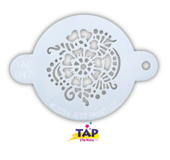 HENNA PATTERN TAP 047 Face Painting Stencil