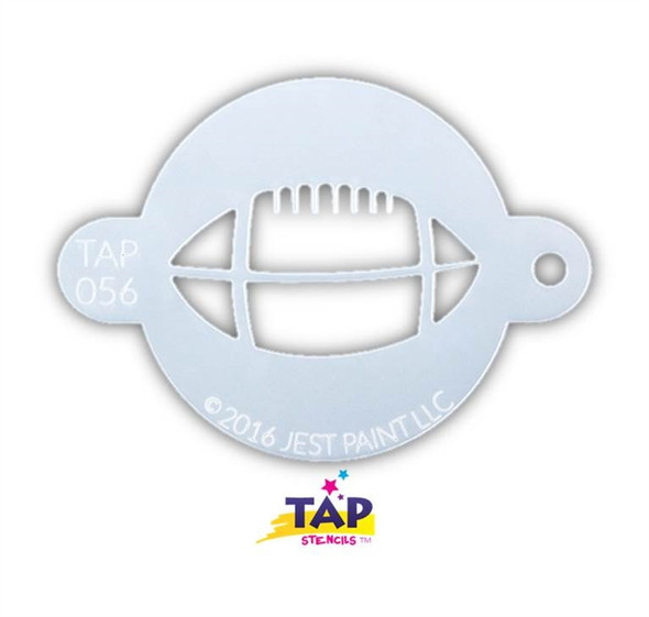 FOOTBALL TAP 056 Face Painting Stencil