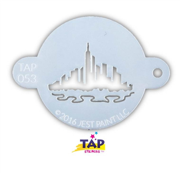 CITYSCAPE TAP 053 Face Painting Stencil