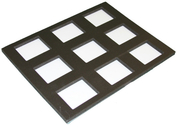 Foam insert for 9x 50g cakes fits TAG palette case