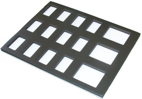 Foam insert for 3x 50g + 12x onestroke fits TAG palette case