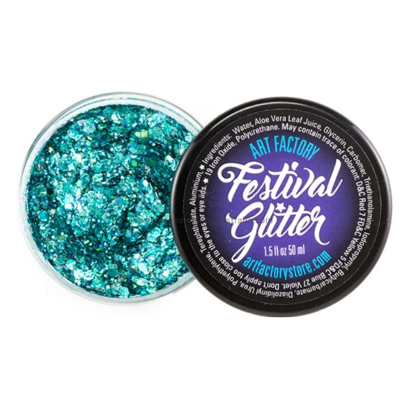 'BLUE LAGOON' Festival Glitter by the Art Factory