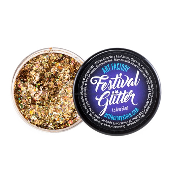 'GOLD DIGGER' Festival Glitter by the Art Factory
