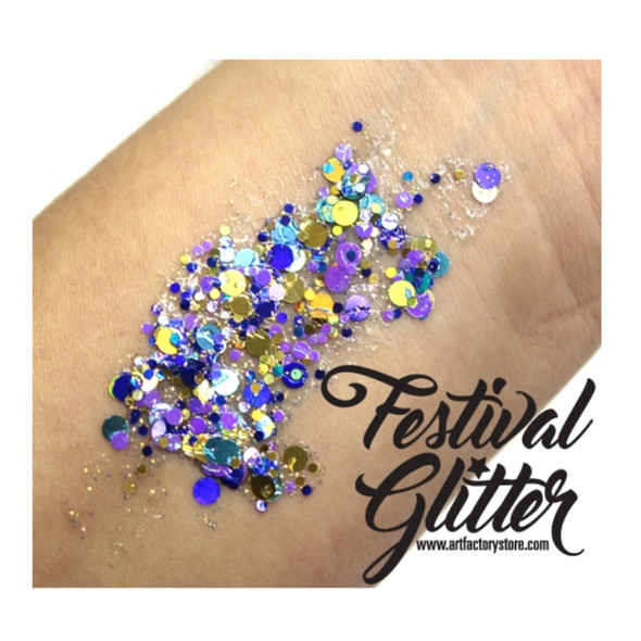 'PEACOCK' Festival Glitter by the Art Factory