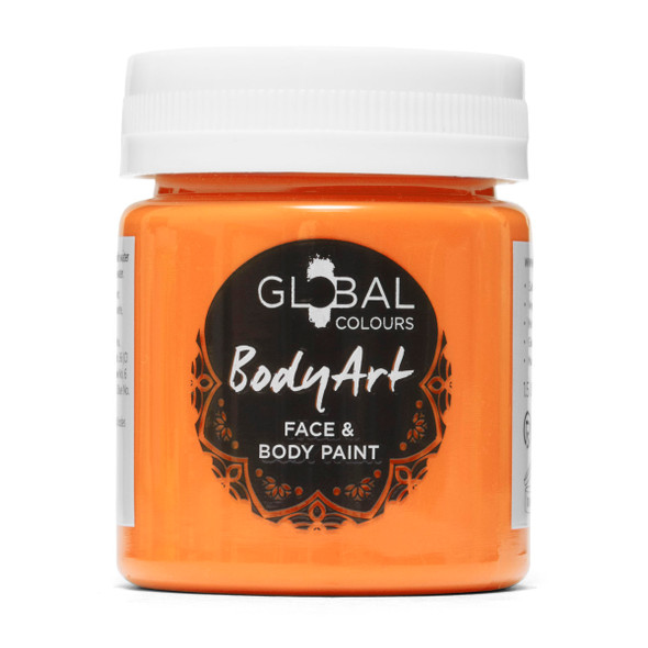 NEON ORANGE Face and Body Paint Liquid by Global Colours